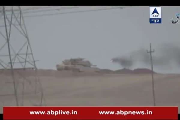 IS missile blows army tank in Iraq