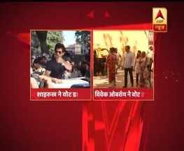 BMC चुनाव: वोट करने पहुंचे विवेक ओबरॉय, दिखाई स्याही लगी उंगुली