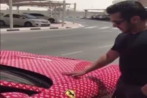 In Graphics: फेरारी कार देख एक्साइटेड हुए सलमान खान, 15 साल का यह लड़का है कार का मालिक