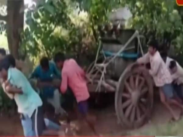 MP: Villagers carry transformer in bullock cart